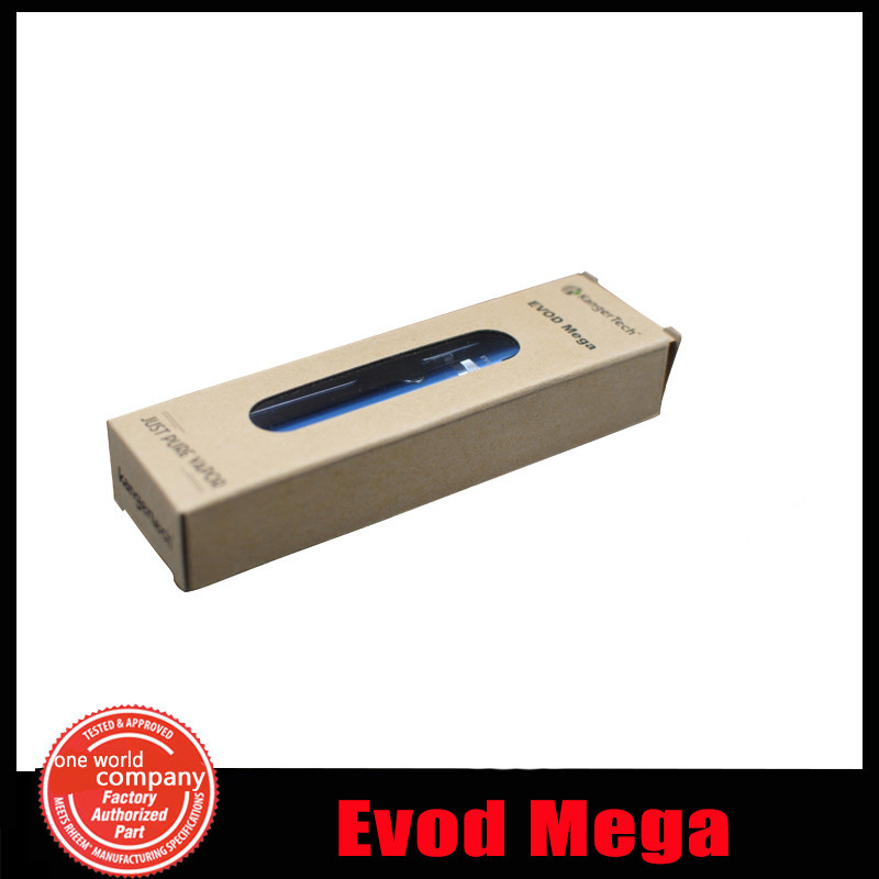 10 1 100% Authentic Kanger Evod Mega Electronic cigarette Adjustable battery 1900mah  e cig Kanger Evod Mega Starter Kit