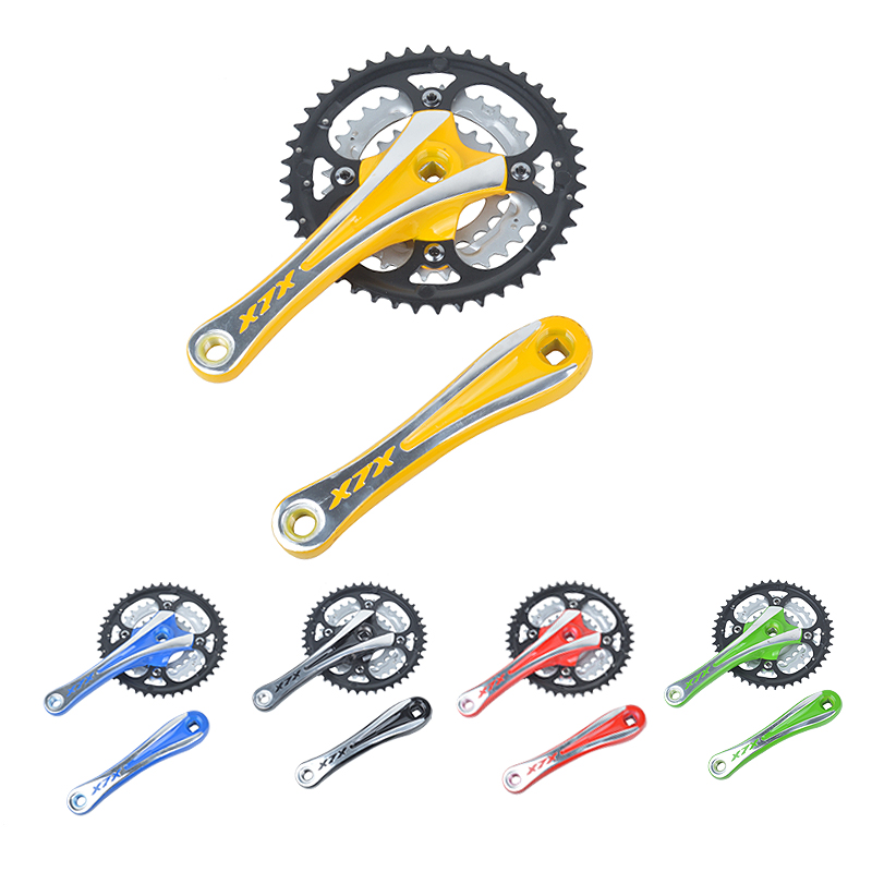 Mountain bike crankset aluminum alloy crank chain wheel square hole 44T with chain cover mountain bike 9 speed gear tooth disc