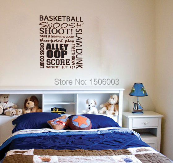 Buy basketball wall decals vinyl stickers for Basketball mural wallpaper