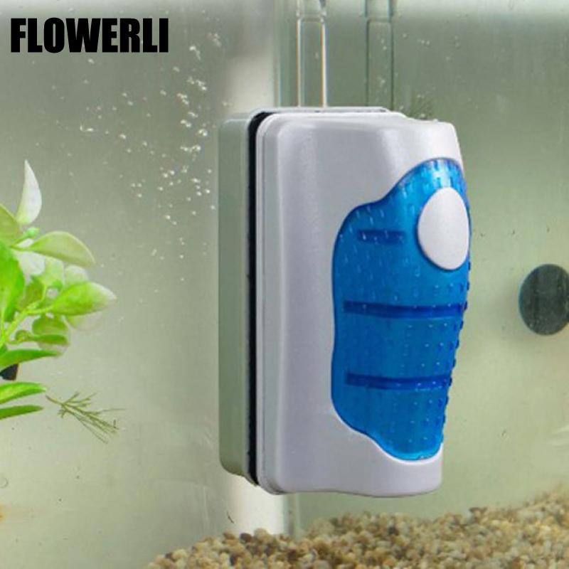 2015 hot magnetic brush aquarium fish tank glass algae for White algae in fish tank
