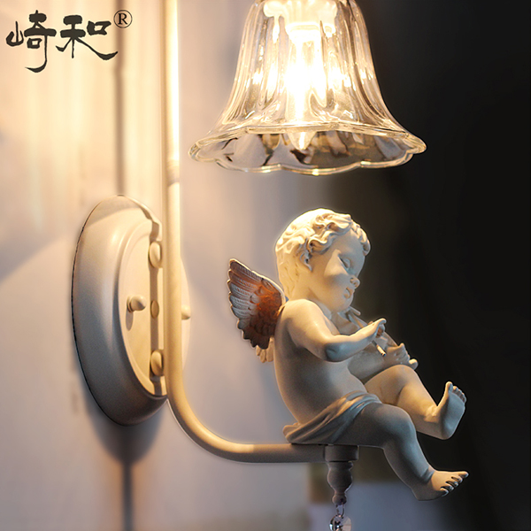 Modern crystal wall light with the angel for living room light modern wall lamps led<br><br>Aliexpress
