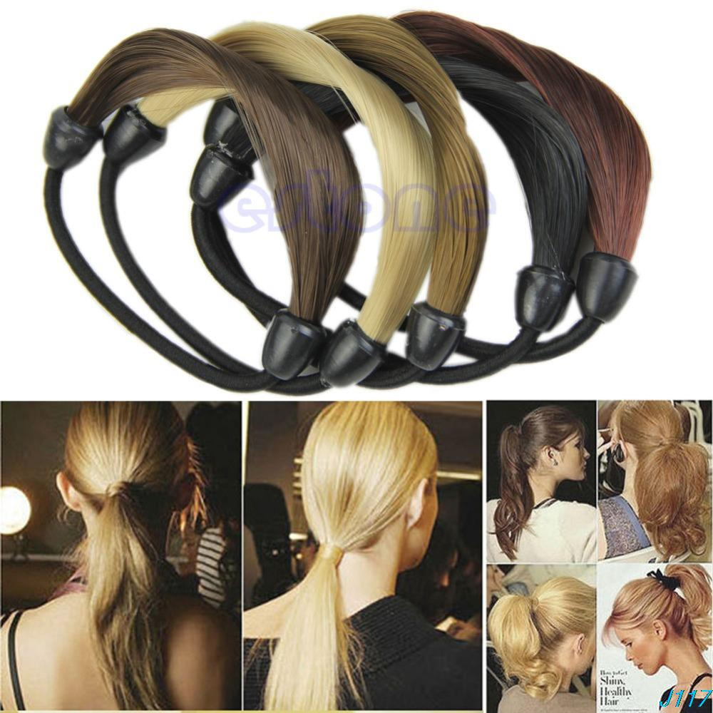 Fashion Korean Wig Hair Ponytail Holders Plaits Hair Twist Rubber Band Headband J117