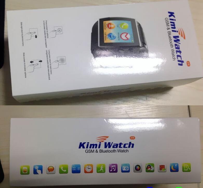 ถูก 2016 1.54 ''hiนาฬิกา2 ii s mart w atchบลูทูธsmart watchนาฬิกาข้อมือสนับสนุนซิมกล้องสำหรับa ndroidมาร์ทโฟนสายรัดข้อมือ