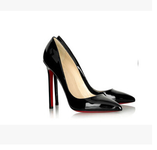 Women Pumps Sexy Red Bottom Pointed Toe High Heels Shoes Woman 2015 Brand New Design Wedding