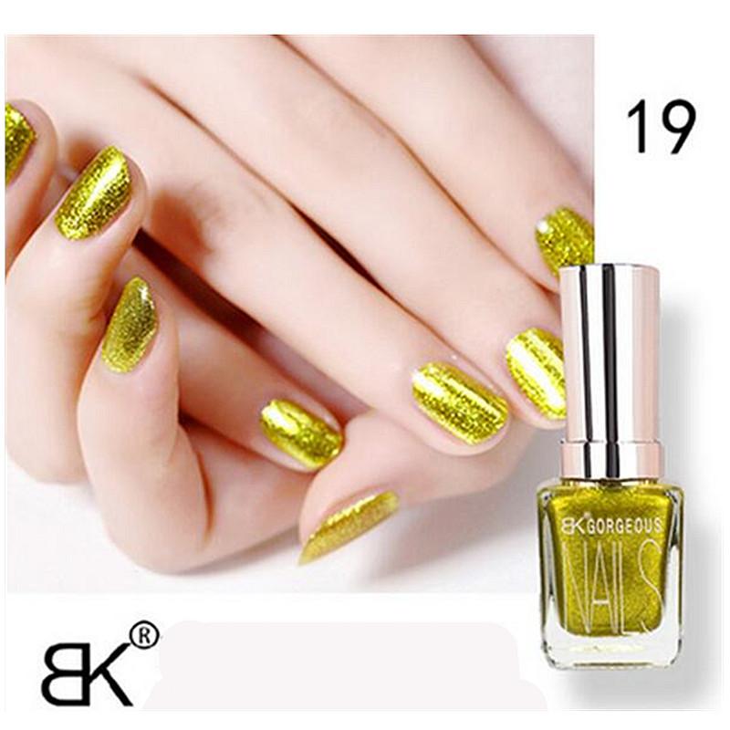 1pcs Bk Metallic Matte Gel Nail Polish Lasting Shine 15ML Nail Art Glitter holographic 24 colors silver gold cheap Nail Polish(China (Mainland))