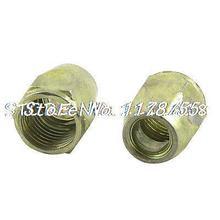 "9/25"" 9mm Inner Dia Thread Hex Head Screw Nut Bronze Tone 2 Pcs(China (Mainland))"