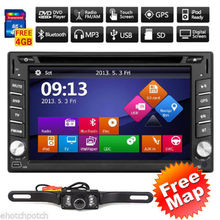 """HD Touch Screen Car DVD Player 6.2"""" 2DIN in-dash Built-in GPS Car Stereo Player FM/AM RadioBluetooth iPod MP3 TV+Rear Camera"""