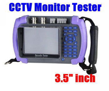 "2 Pcs/Lot 3.5"" inch LCD Security CCTV Tester Monitor PTZ Video Audio Camera  Free Shipping"