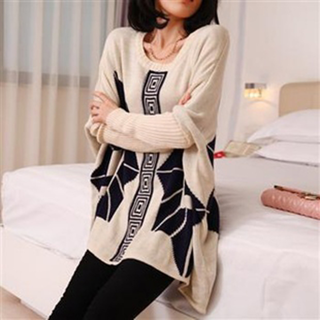 High Quality Korean  Autumn Winter Warm large size pullover retro loose maternity sweater outer wear