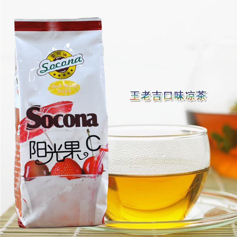 Socona Wong Lo Kat herbal tea powder 1000g solid taste of beverage raw juice powder coin