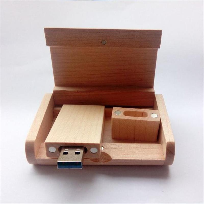 New High speed 3.0 usd flash pen drive / maple wooden 4-128GB DIY Customized logo company gift / photography (20 pcs free logo)(China (Mainland))