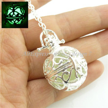 Glow Beads Locket Necklace for Fragrance Aromatherapy Essential Oil Diffuser(China (Mainland))