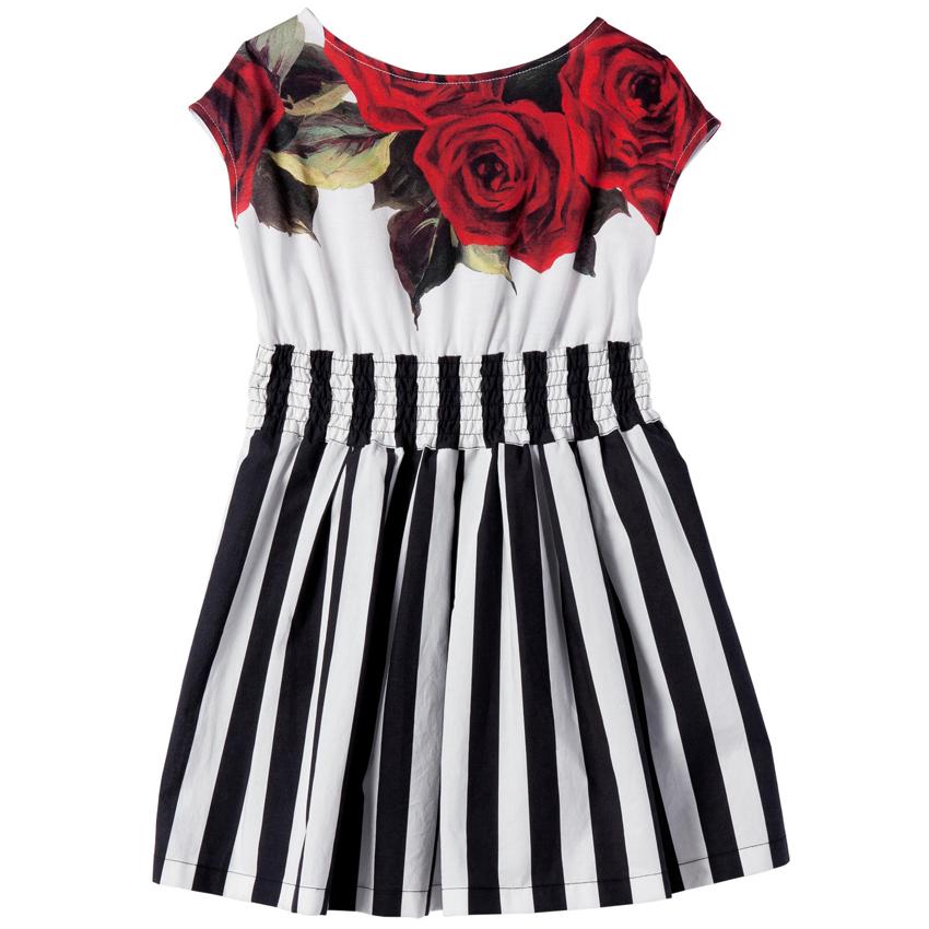 Baby Girls Dress Summer 2015 Brand New Girl Dress Princess Children Dresses Flower Striped Girls Summer Dress Kids Clothes