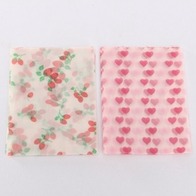 20Pcs Home Wrapping Waxed Beautiful Papers Red Strawberry /Pink Heart Candy Cake Paper Waterproof Papper Paraffin Letter(China (Mainland))
