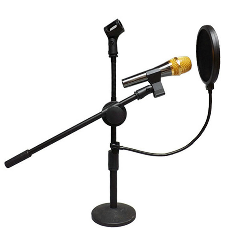 Flexible Mic Microphone Studio Wind Screen Pop Filter Mask Shied Gooseneck Black wired For Computer Microphone(China (Mainland))