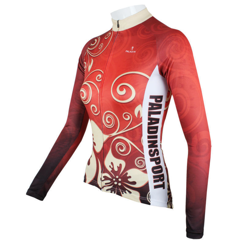 2015 Paladin Cycling Jersey Sacred Flowers #C318L Women T-shirt for Bike Party Free shipping Bicycle Sport LongSleeve(China (Mainland))