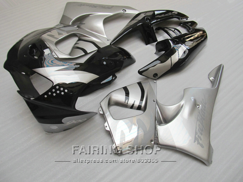 Cheap Fairing kit For Honda CBR900RR 919 1999 1998 (Silver black Fairings ) cbr 900rr 98 99 CN26