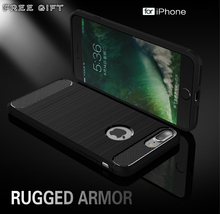 Buy Brand new Hybrid Slim Armor Case iPhone 7 7 Plus 6 5S SE Carbon Fiber Texture Brushed Silicone Soft Back Cover iPhone 6s for $3.31 in AliExpress store