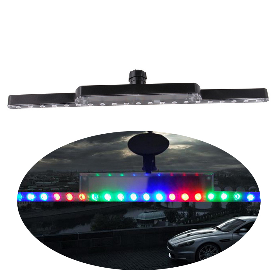 -90% OFF Car Auto Flexible Flashing Solar Power LED Knight Rider Lights Car Warning Lighting Led Strips Light Free Shipping(China (Mainland))