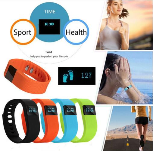 TW64 Fitness Activity Tracker Bluetooth 4.0 Flex Smart Watch Wristband Sport Smart Bracelet Pedometer For IOS Android System(China (Mainland))