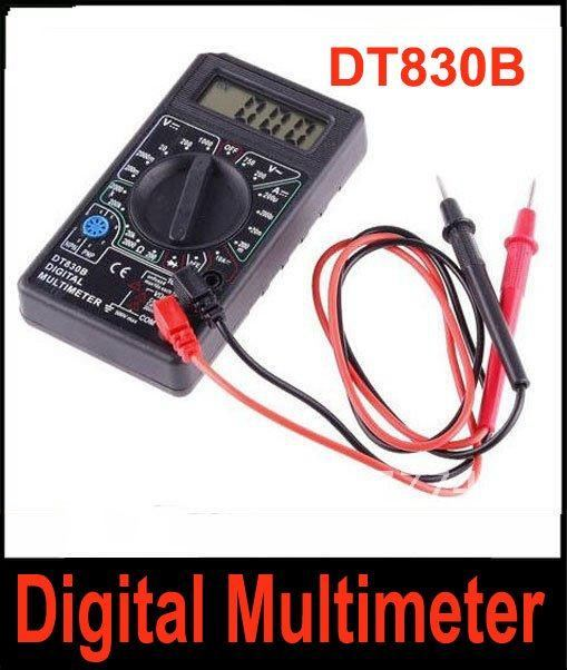 Ammeter Voltmeter Ohm Test Meter Professional Electric Digital Multimeter DT830B Free Shipping