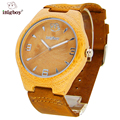 iBigboy Bamboo Wooden Watch Men s Quartz Watch Leather Strap Wrist Women Brand Watches For Men