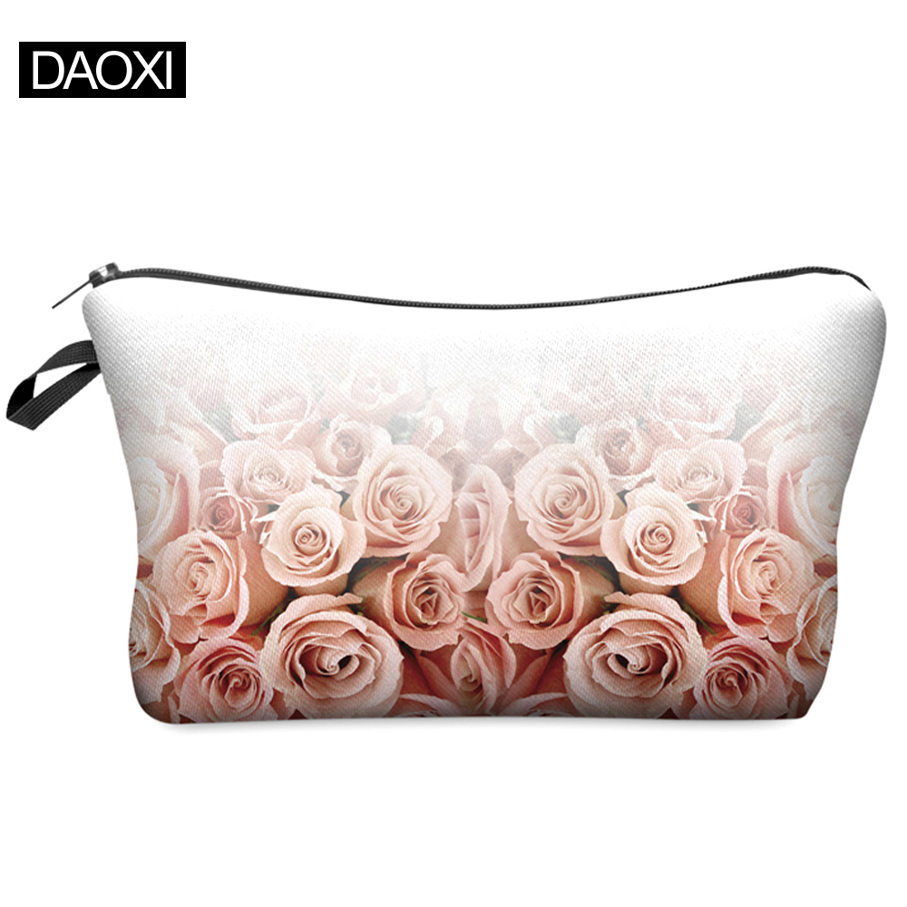 Women Brand Cosmetic Bags 2015 Hot-selling Travel Makeup Case Small Fashion Christmas Gift Roses BHZB41(China (Mainland))