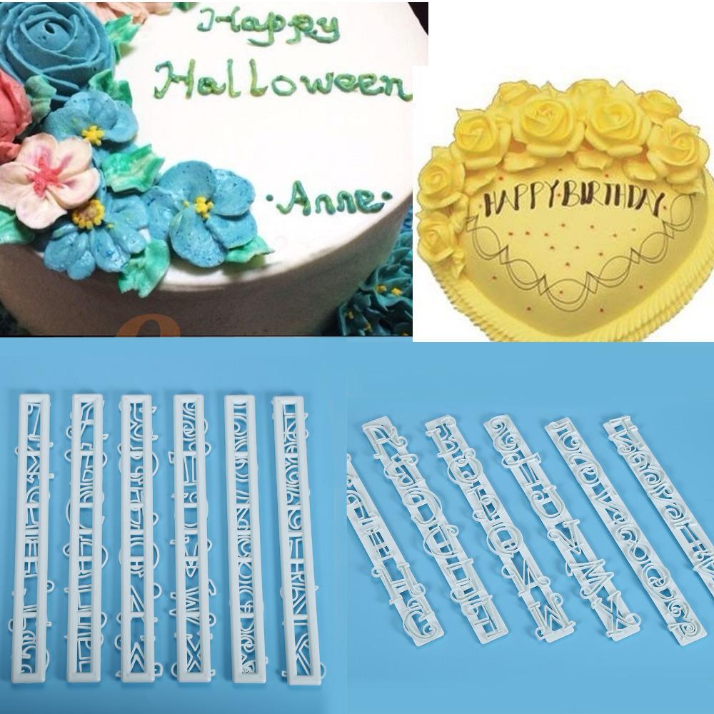 6PCS/Set Number Letter Cake Mould Fondant Decorating Cutter Cake Mold Sugarcraft Tool Cake Mold(China (Mainland))