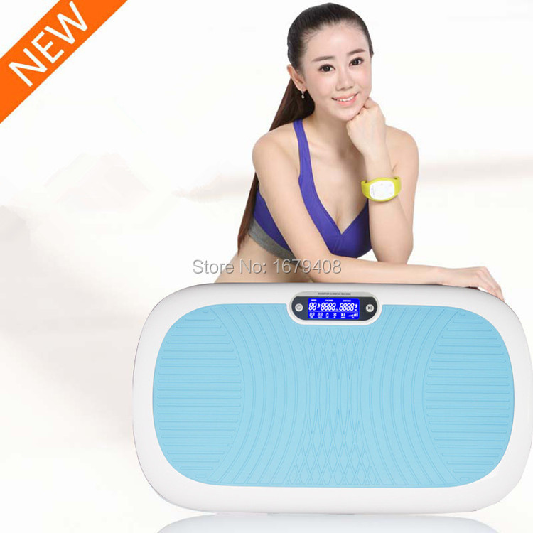 HOT!!! Electric Slimming Cellulite Massager with Muscle Stimulator Body Massage Apparatus Power Fitness Vibration Plate(China (Mainland))