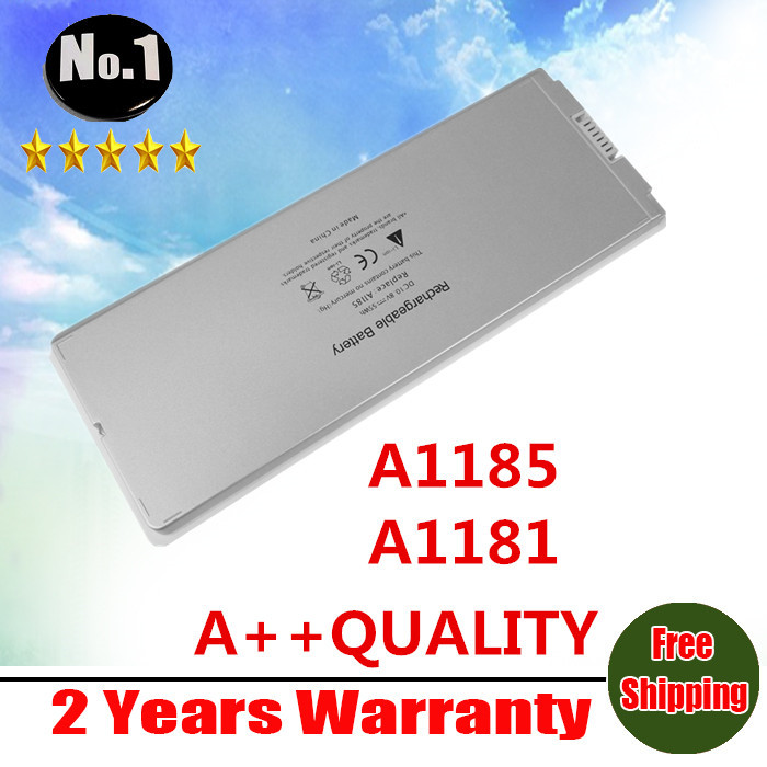 """wholesale New laptop battery for apple MacBook 13"""" MA254 A1185 A1181 MA561 free shipping(China (Mainland))"""