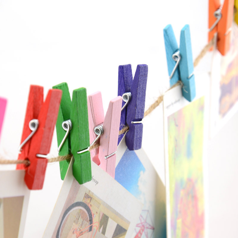100pcs Mix Wooden Clothes Pegs Craft Wedding Photo Album Paper Hanging Spring Clip Clothespin Birthday Party Home Decoration(China (Mainland))