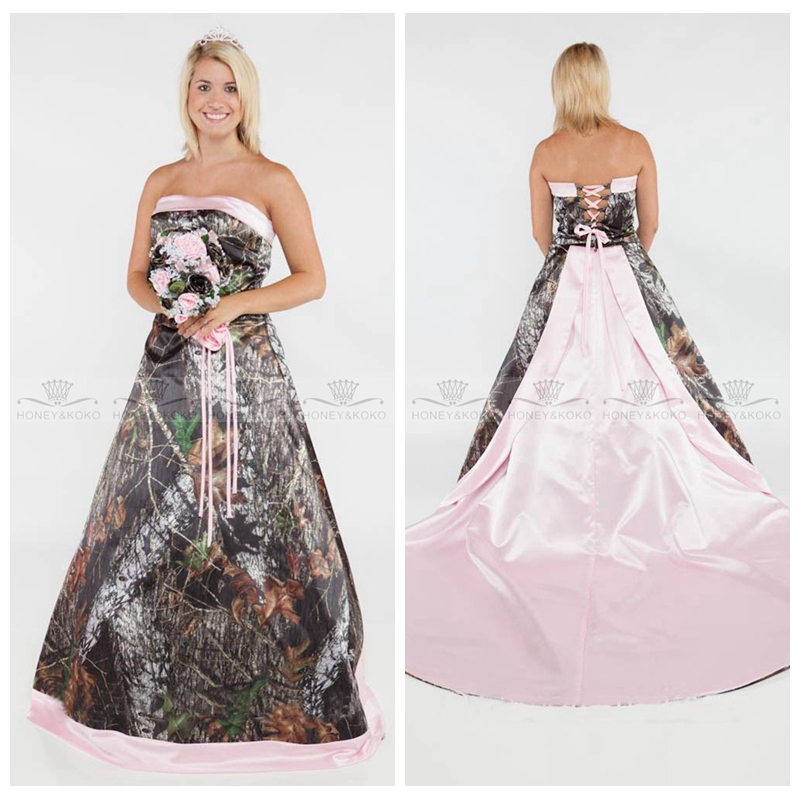 Pink Camo Wedding Dress Sizes Promotion-Shop for Promotional Pink ...