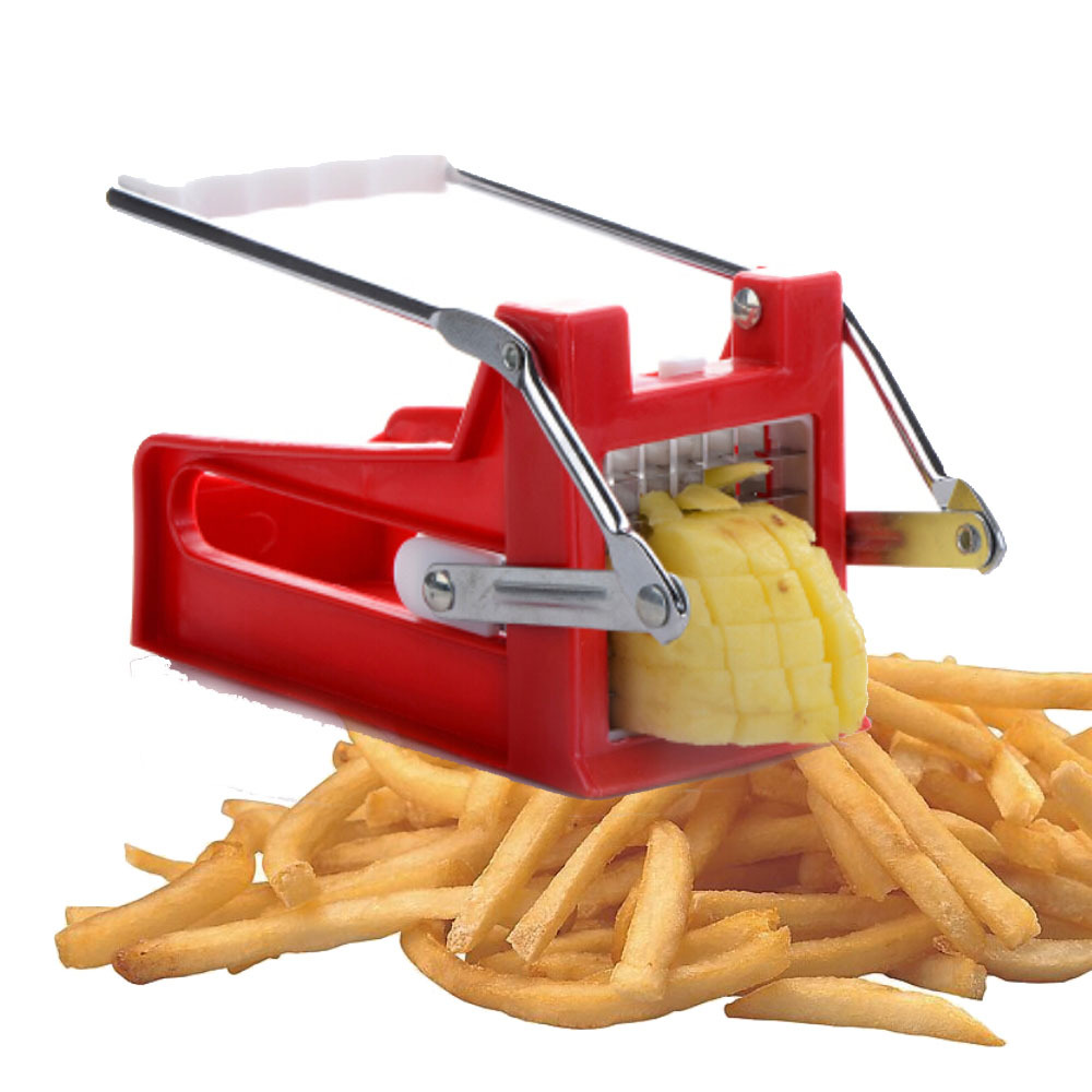 New Potato Chipper French Fries Slicer Chip Cutter Chopper Maker 2 Blades Stainless Kitchen Tool - Enjoy Sweet Life store