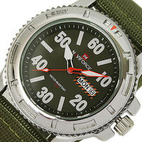 Brand NAVIFORCE Sport Army Green Waterproof MEN watches DATE DAY Canvas round dial Analog Quartz Clock military Mens Wrist Watch