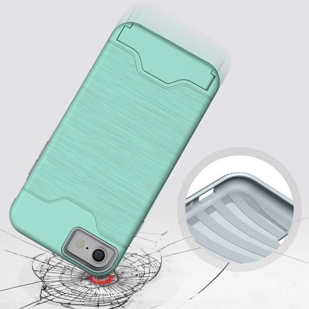 For Iphone7 Luxury Hybrid Armor Kickstand Card Slot Hard Fundas Case For Apple Iphone 6 6plus 6s Plus 7 7plus 7 Plus Cover Capa