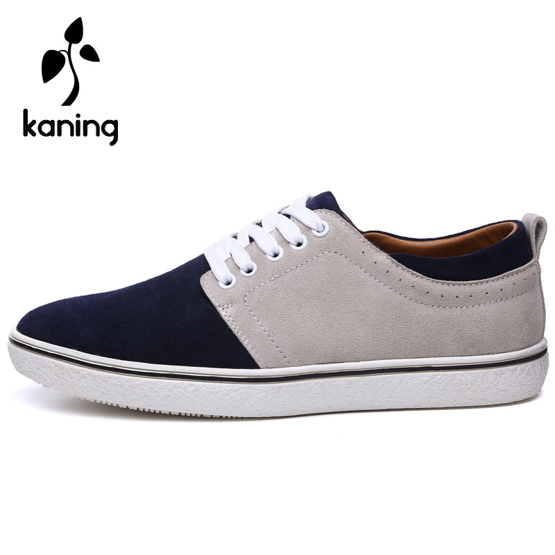 Kaning Spring Fashion Genunie Leather Suede Men Shoes Breathable Mix Color Flat Men Casual Shoes Luxury Zapatos Hombre 38-44<br><br>Aliexpress