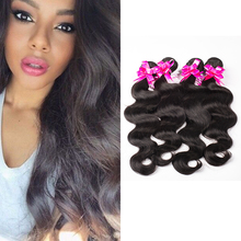 4 Bundles Body Wave Top Sale 8A Virgin Hair Extensions Natural Black Indian 100% Human Hair Body Wave Remy Queen Hair Products(China (Mainland))