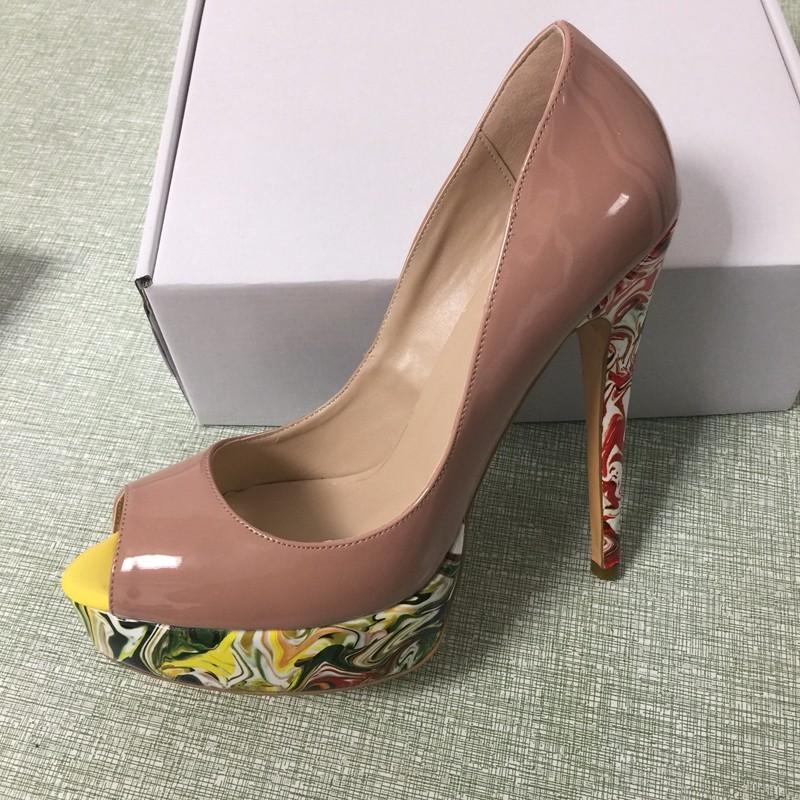ซื้อ เซ็กซี่เปลือยผู้หญิงปั๊มแพลตฟอร์มP Eep Toeรองเท้าส้นสูงSalto Alto Grosso Zapatos Mujer Sapatos S AltoเดอัลโตFeminino 2017ใหม่