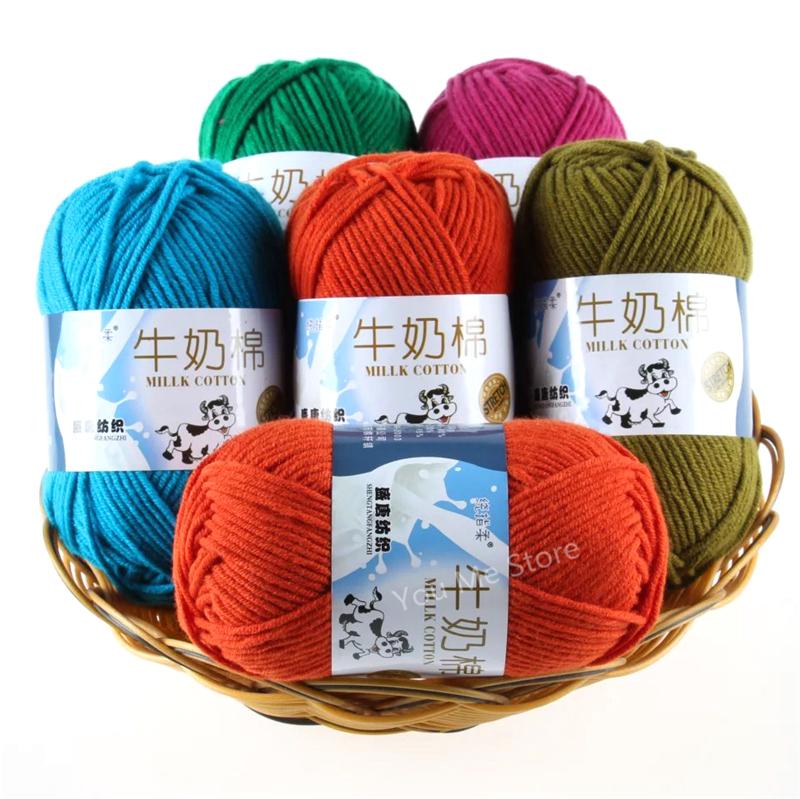 Knitting Warehouse Location : Aliexpress buy strands milk cotton knitting yarn