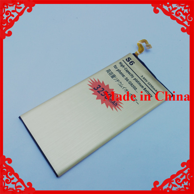 OEM Gold Mobile Phone Replacement Battery 3250mAh For Samsung Galaxy S6 G920 G9200 G920f G920i G920A G920K G920L G920S G920T(China (Mainland))