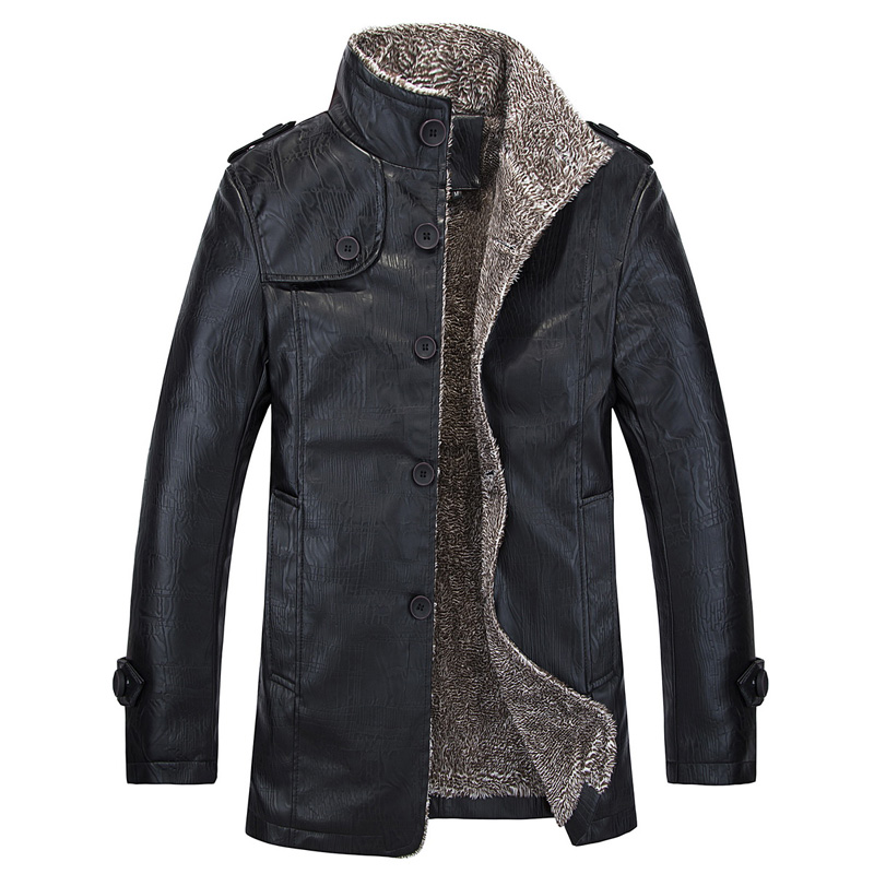 new 2015 mens fashion wool warm long leather coat jackets / Autumn and winter Mens wool collar Big yards leisure coat jacket Одежда и ак�е��уары<br><br><br>Aliexpress