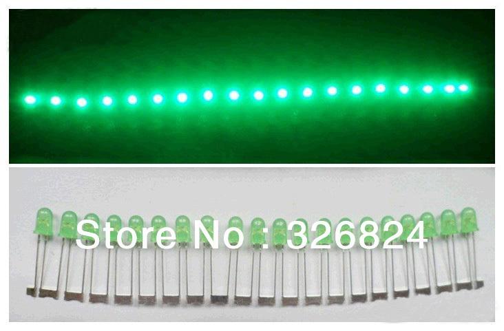 LED 5mm Super Bright led Lamp Beads Green Light Emitting Diode (Green) LED Light 1000pcs/lot Free Shipping(China (Mainland))
