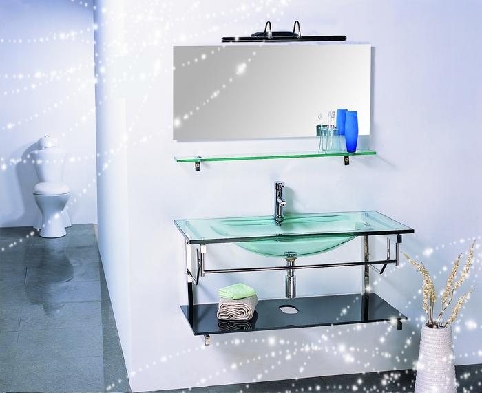 Oms 2808 bacia  pia vidro  banheiro vaidade  móveis casa de banho em Pias  -> Pia Para Banheiro De Vidro