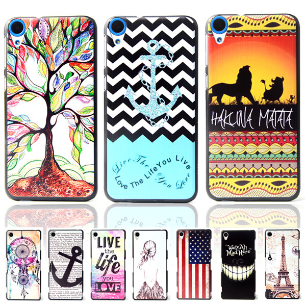 Гаджет  Brand Ultra Thin Cartoon Pattern Matte Hard Back Case for HTC Desire 820 D820U D820Q Shockproof Cell Phone Protective Cover Bags None Телефоны и Телекоммуникации