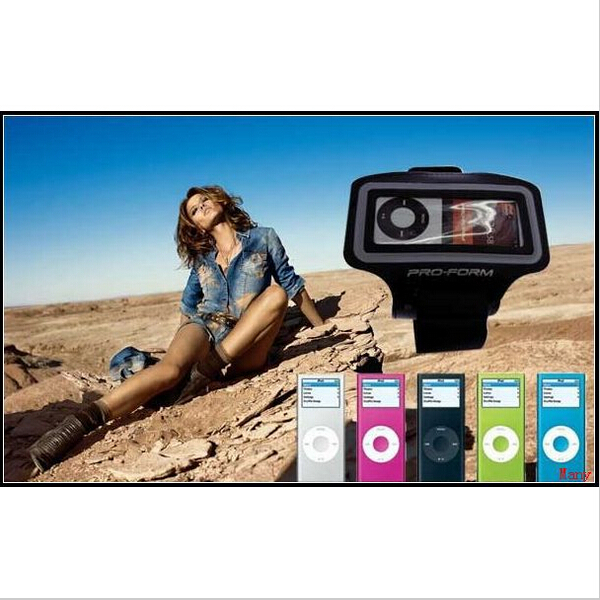 For iPod Nano 4 5th Sport Armband Gym Case Cover Pouch Bag Belt, Black Color Arm Band, Drop Shipping(China (Mainland))