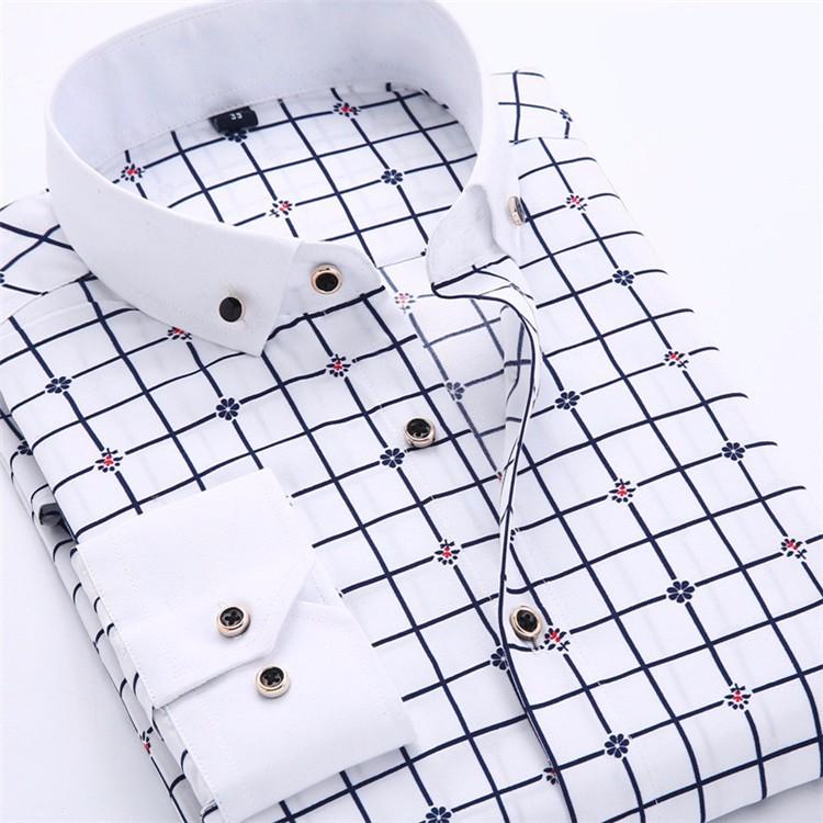 HTB1eeM5JFXXXXaqapXXq6xXFXXXr - Big Size 4XL Men Dress Shirt 2016 New Arrival Long Sleeve Slim Fit Button Down Collar High Quality Printed Business Shirts M014
