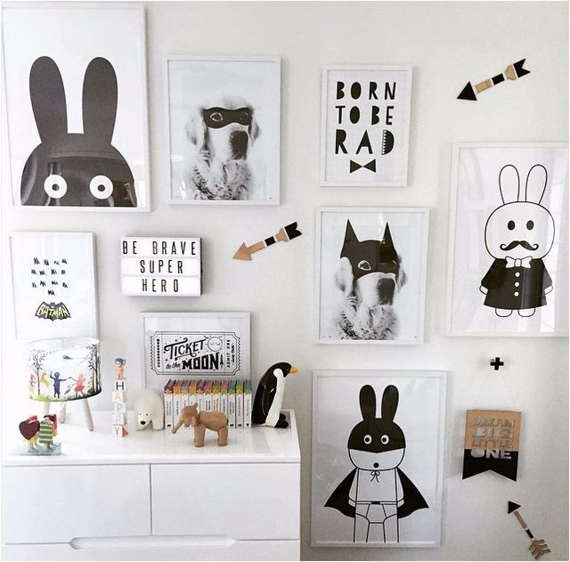 New batman/bunny posters frameless hanging print painting for kids baby room wall decorative(China (Mainland))