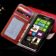 N630 Flip Wallet Case Luxury PU Leather Cover For Nokia Lumia 630 635 N630 N635 Full Body Protect Shell Card Insert Stand Case(China (Mainland))