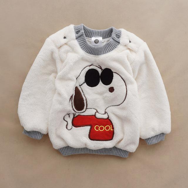 Девочек мальчиков теплые мультфильм свитера осень / зима износа детей пуловеры верхняя ...