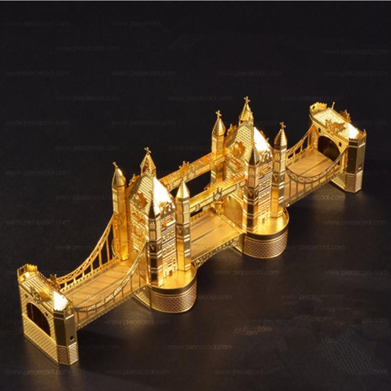 3D Metal Building Tower Bridge puzzles Creative Desktop Decoration(China (Mainland))